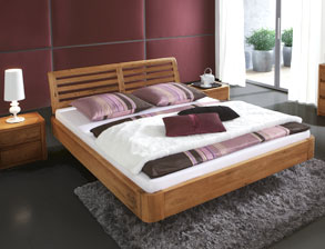 bett schwebend in schwebeoptik ohne f e kaufen. Black Bedroom Furniture Sets. Home Design Ideas