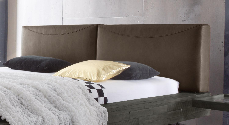 Bett Salo mit bequemem Kopfteil aus Luxuskunstleder