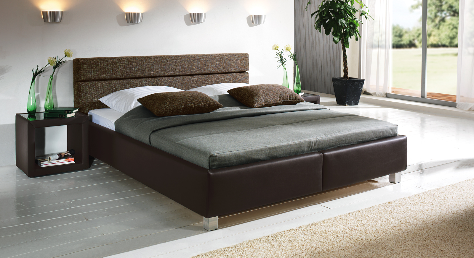 bella luna spannbettlaken in dunkel braun bett bezug f r wasserbetten boxspringbetten. Black Bedroom Furniture Sets. Home Design Ideas