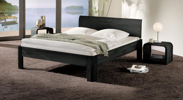 Bett Santa Clara in Eiche graphit und 25cm Fusshöhe