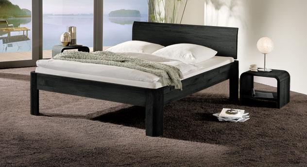 Bett Santa Clara in Eiche graphit und 30cm Fusshöhe