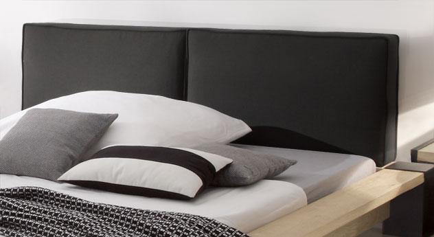 Bett Savena inklusive großes gepolstertes Kopfteil