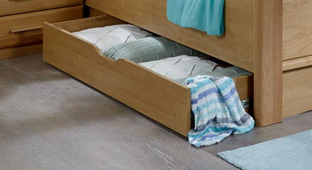 Bett-Schubkasten Trikomo mit leichtgängigen Schienen