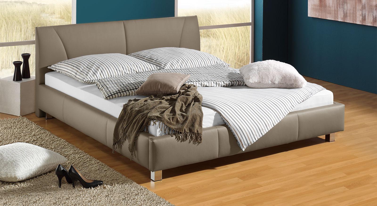 g nstiges polsterbett z b in wei 140x200 cm sona. Black Bedroom Furniture Sets. Home Design Ideas