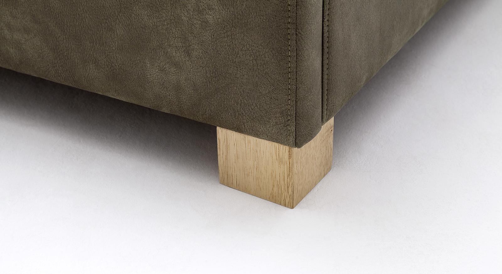 Bett Surin mit massiven Füßen aus Eichenholz