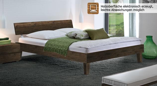 """Bett """"Teramo"""" mit schicken Holzmaserungen."""