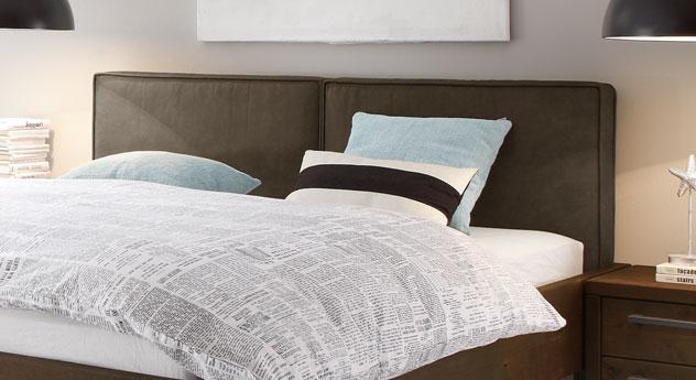 Bett Tonala inklusive gepolstertem Kopfteil