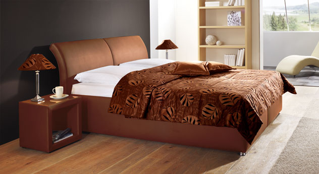 Bett Trapani terracotta Tagesdecke