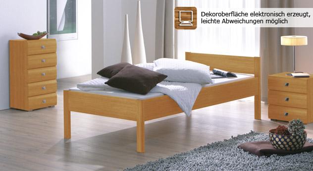 """Sehr schickes Bett """"Travelli"""" in Buche natur"""