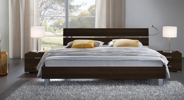 Das Bett Treviso aus MDF, ferrara