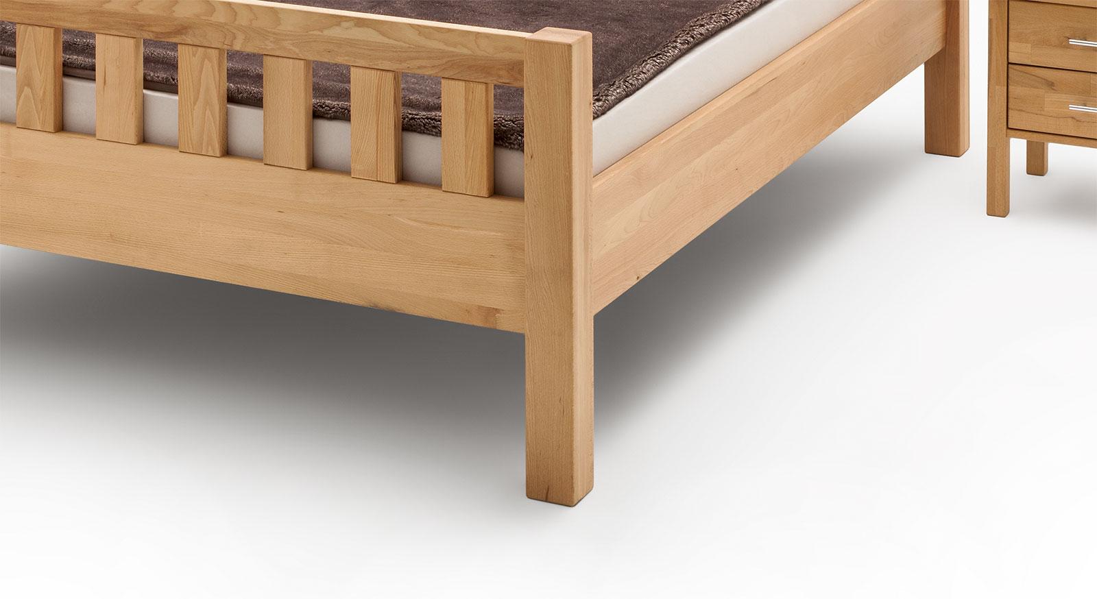 Massiver Fuss vom Bett Valencia Komfort