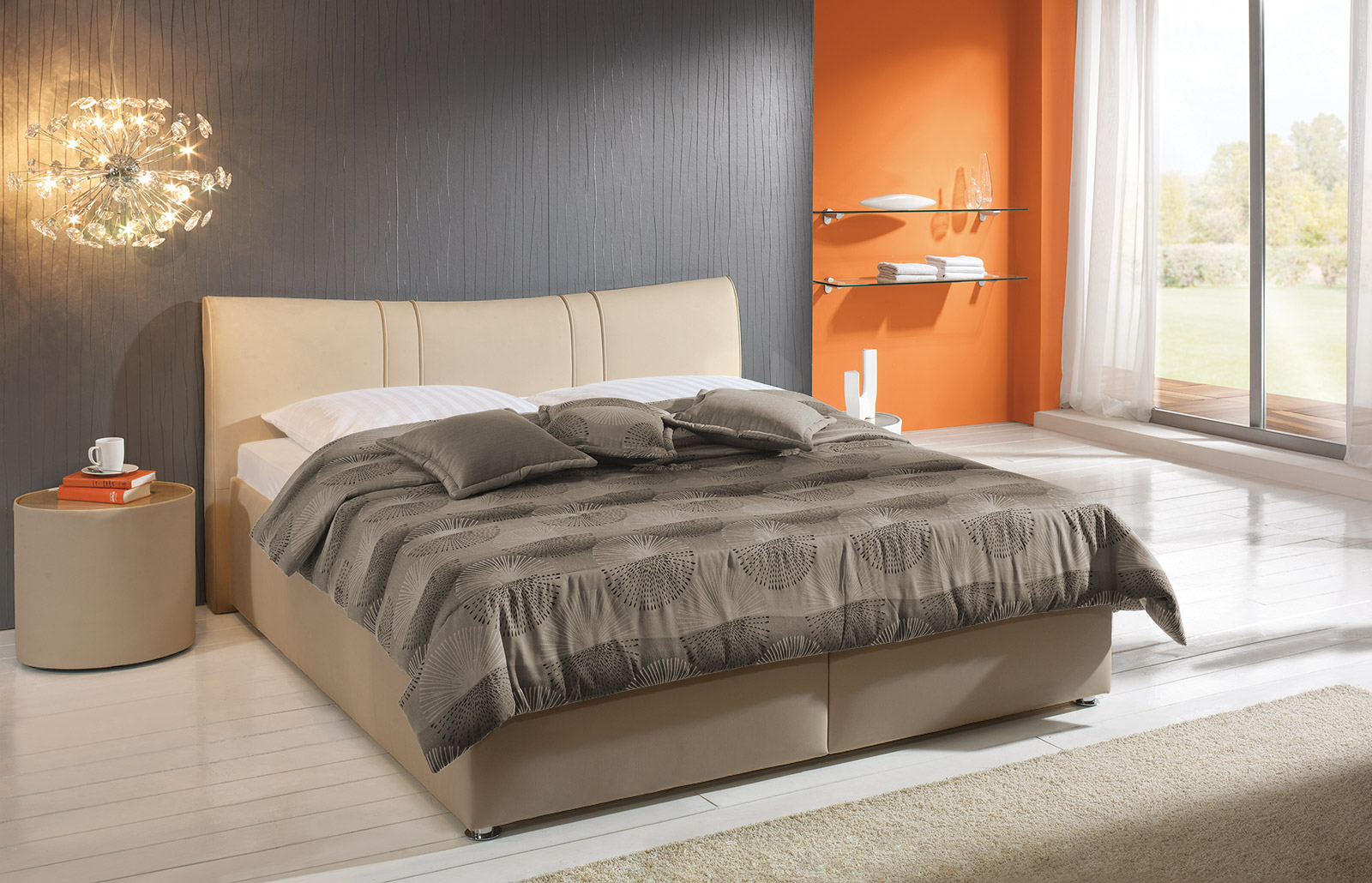 bett venetien wei es polsterbett mit bettkasten g nstig. Black Bedroom Furniture Sets. Home Design Ideas