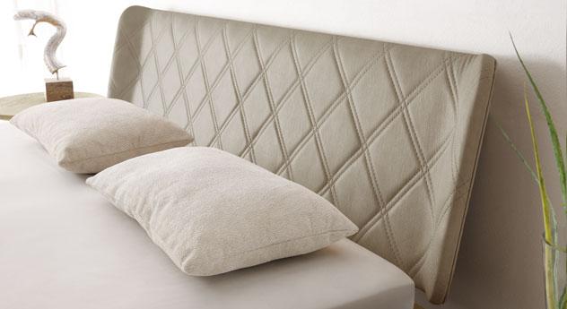 Bett Weno inklusive Kopfteil mit Luxus-Kunstleder-Bezug