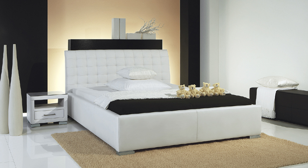 Polsterbett Baskerville Comfort Kunstleder Weiß