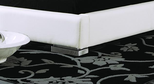 Bett Campo Bettbeine Füße aus chromfarbenem Metall