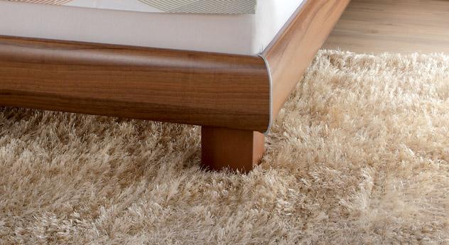 Designerbett Coruna stabile Bettbeine Füße aus MDF