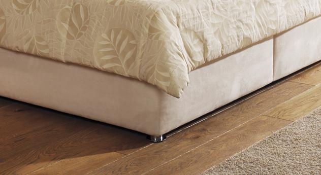 Bett Cremona Bettbeine Füße verchromt