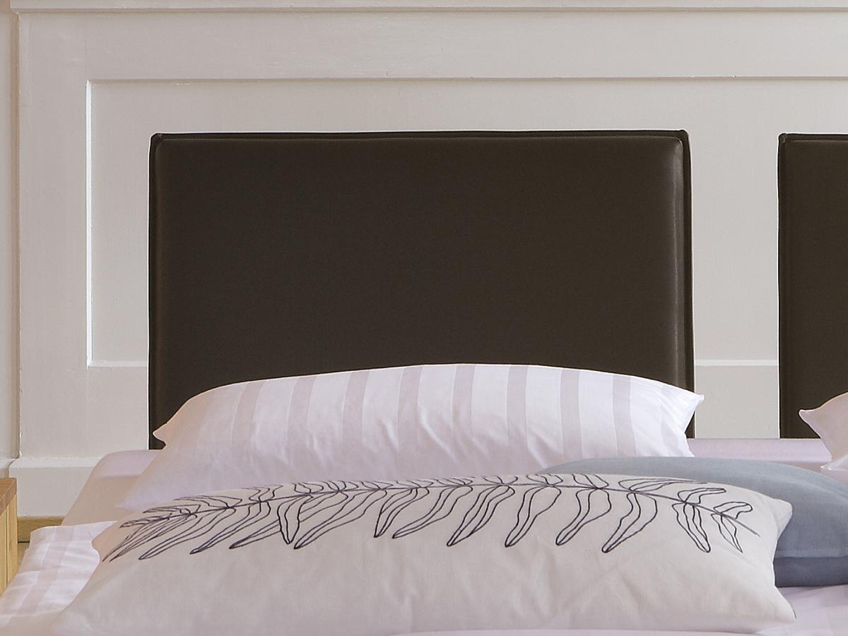 Bett Cromwell Rückenteil mit Polsterung und braunem Kunstlederbezug