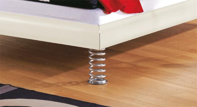 Designerbett Elastic Bettbeine Füße außergewöhnliches Design dekorativ