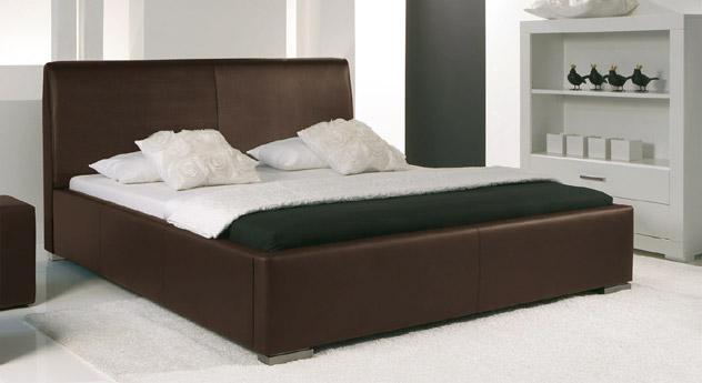 Bett Firenze Comfort braun Bezug Leder
