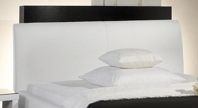 Bett Firenze Comfort mit sehr hohem Kopfteil