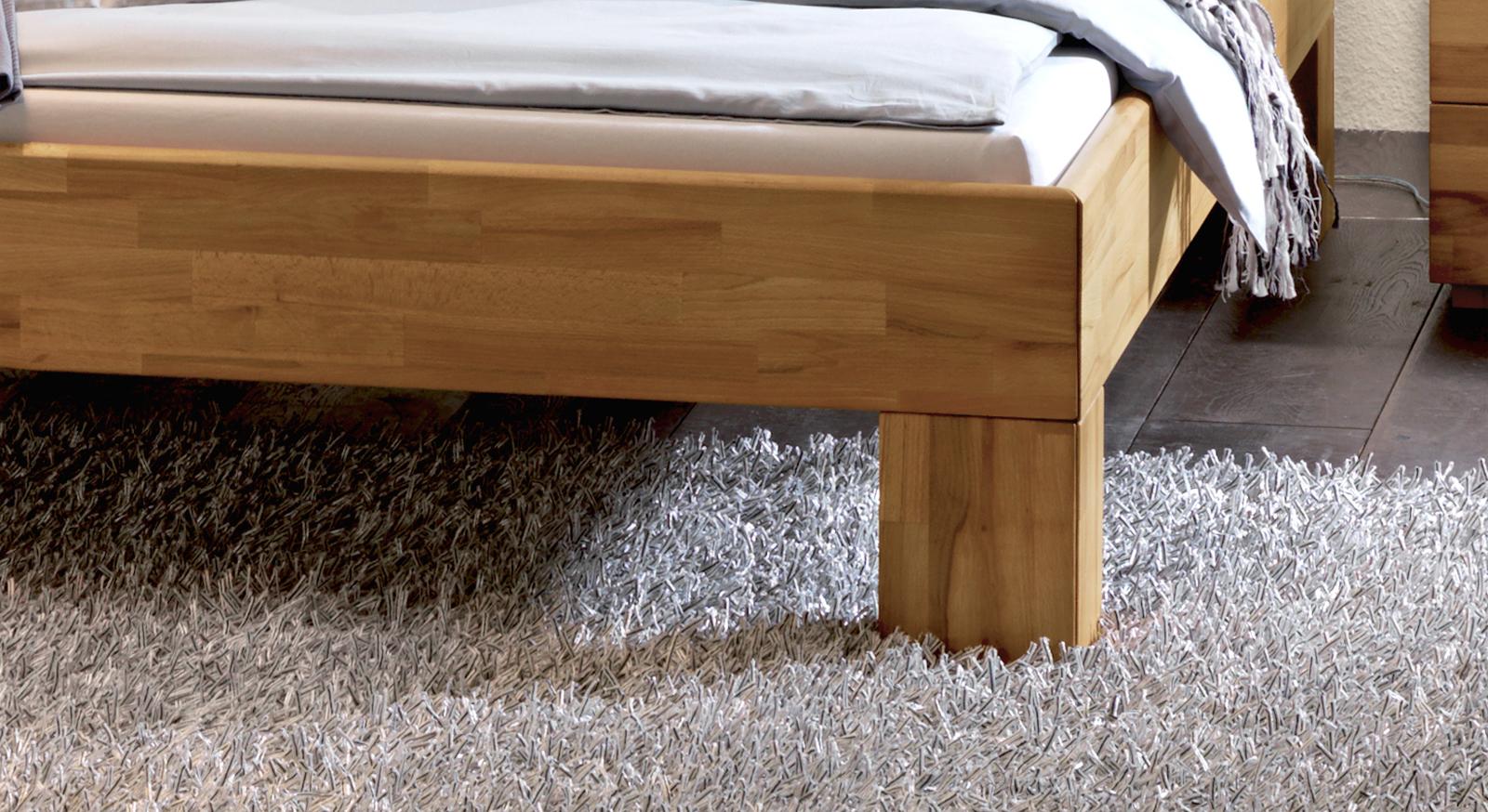 Bett La Gomera Füße Bettbeine Rahmen in Kernbuche