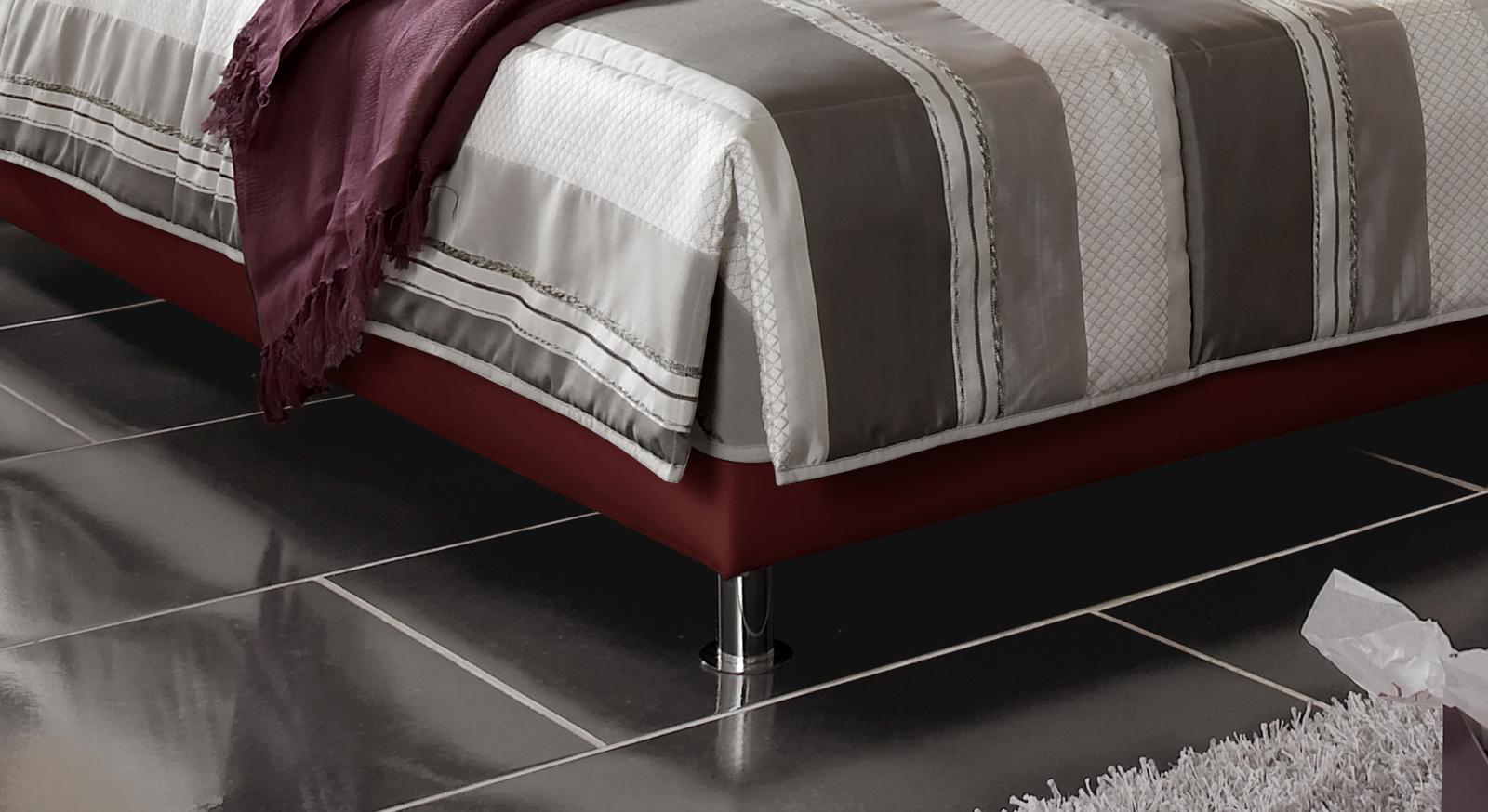 Bett Liberio Bettbeine Metallfüße verchromt