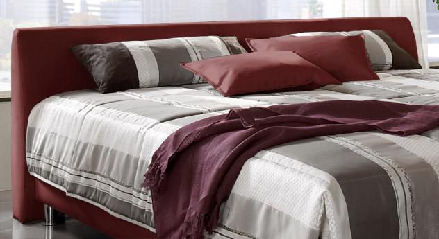 Modernes Polsterbett aus Leder mit Bettkasten - Liberio