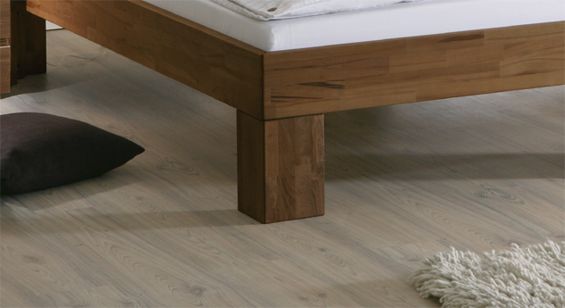 Doppelbett Lucca Komfort massive Bettbeine Buche