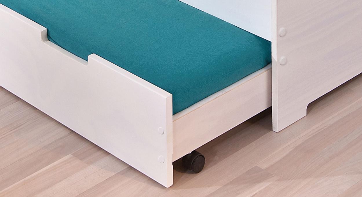 ausziehbett in wei f r kinderzimmer malte. Black Bedroom Furniture Sets. Home Design Ideas
