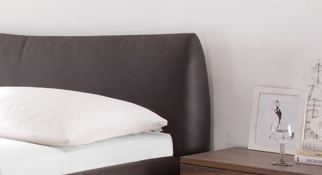 Kunstlederbett mantua mit gepolstertem Kopfteil