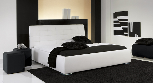 Bett Massa Comfort Kunstleder Weiß