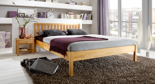 g nstiges holzbett aus massiver buche mira. Black Bedroom Furniture Sets. Home Design Ideas
