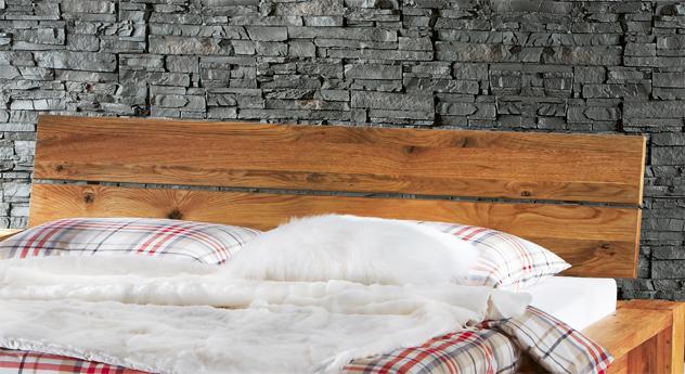 Bett Navia Kopfteil aus Wildeiche