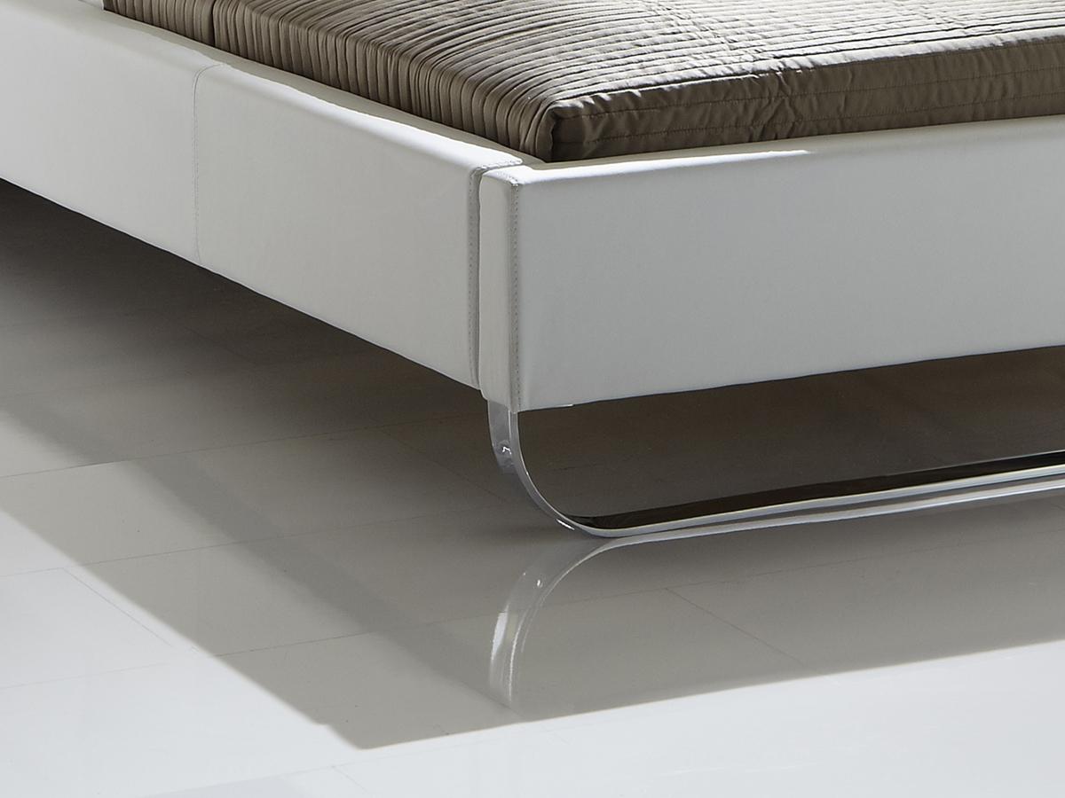 lederbett 180x200cm in wei g nstig odessa. Black Bedroom Furniture Sets. Home Design Ideas