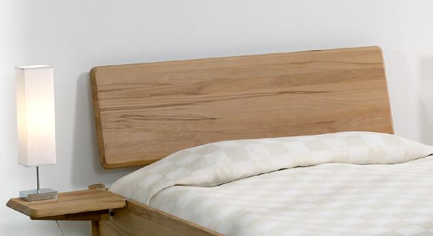 Bett Pavia Kopfteil mit gerundeten Ecken und Kanten