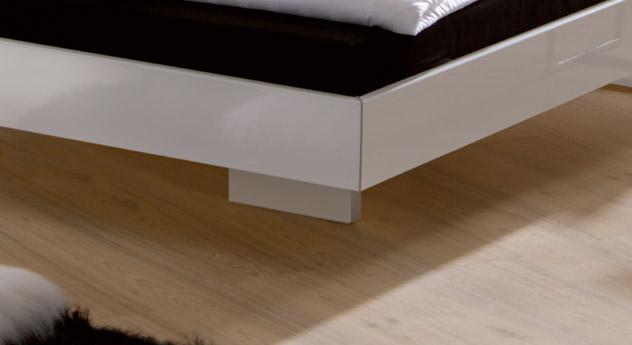 edles hochglanz bett z b in wei 140x200 cm timeless. Black Bedroom Furniture Sets. Home Design Ideas