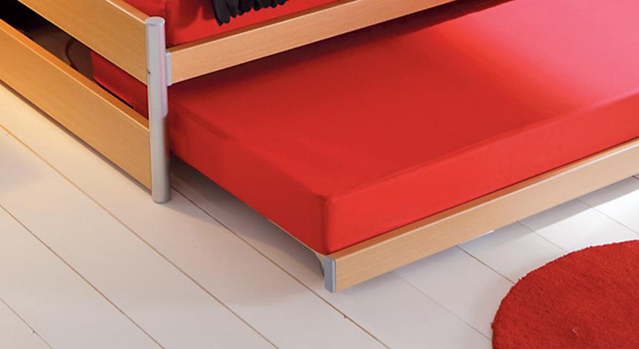 Ausziehbett mit Ober- und Unterbett in Kombination - Tom