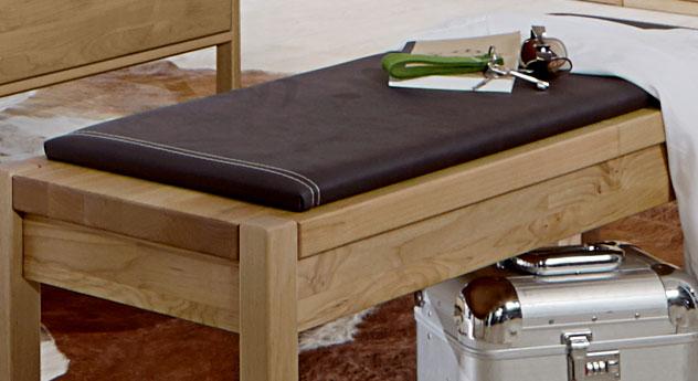 Bettbank Fria inklusive Sitzpolster mit Kunstlederbezug