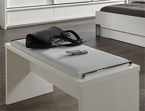 modernes schubkasten doppelbett in weiss salford i. Black Bedroom Furniture Sets. Home Design Ideas