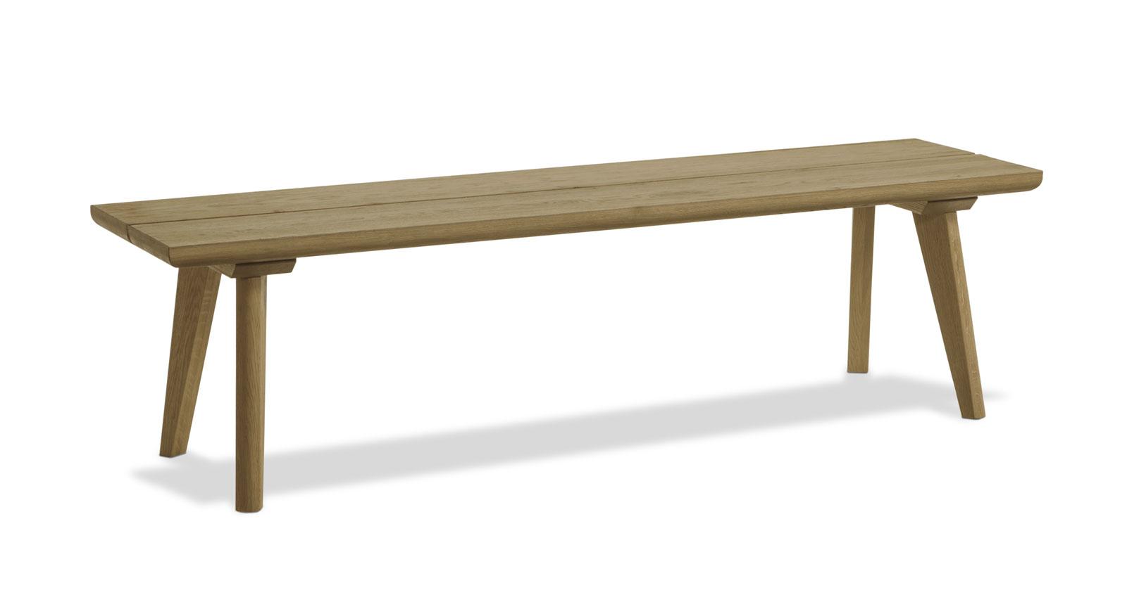 Stabile Massivholz-Bettbank Weno aus Eiche