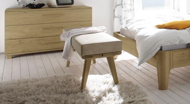 Moderne Bettbank Weno mit optionalem Sitzkissen