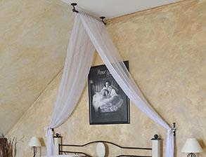 doppelbett romantisch z b in braun aus metall amarete. Black Bedroom Furniture Sets. Home Design Ideas