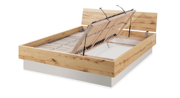 Bettkasten inklusive Lattenrost zum seitlichen Öffnen