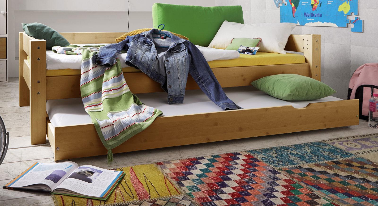 Bettschublade Kids Dreams in Kiefer gelaugt geölt