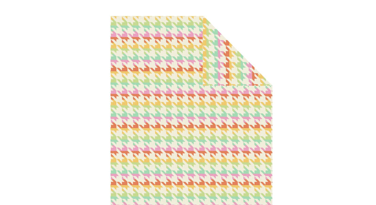 Verspielte Bio-Kuscheldecke Colourful durch Jacquard-Webtechnik