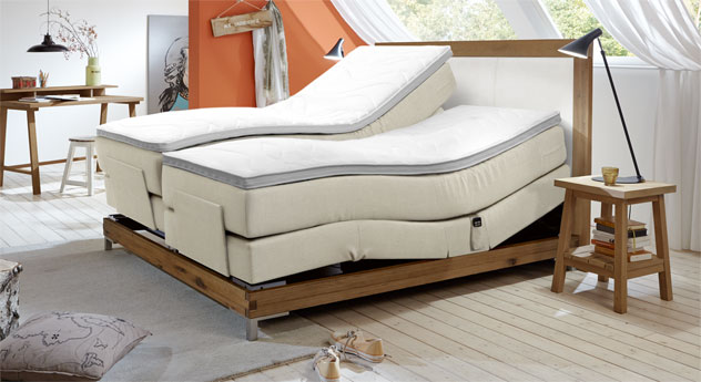 Luxus-Boxspringbett Arezzino Elektro mit Zonen-Verstellung