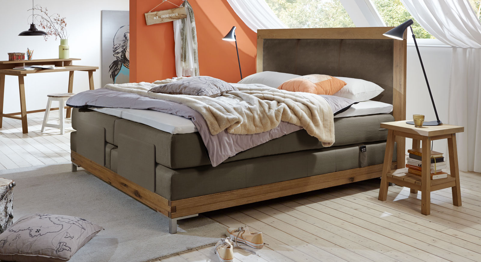 boxspringbett motorisch verstellbar arezzino elektro. Black Bedroom Furniture Sets. Home Design Ideas