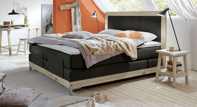 boxspringbett motorisch verstellbar arezzino elektro. Black Bedroom Furniture Sets. Home Design Ideas