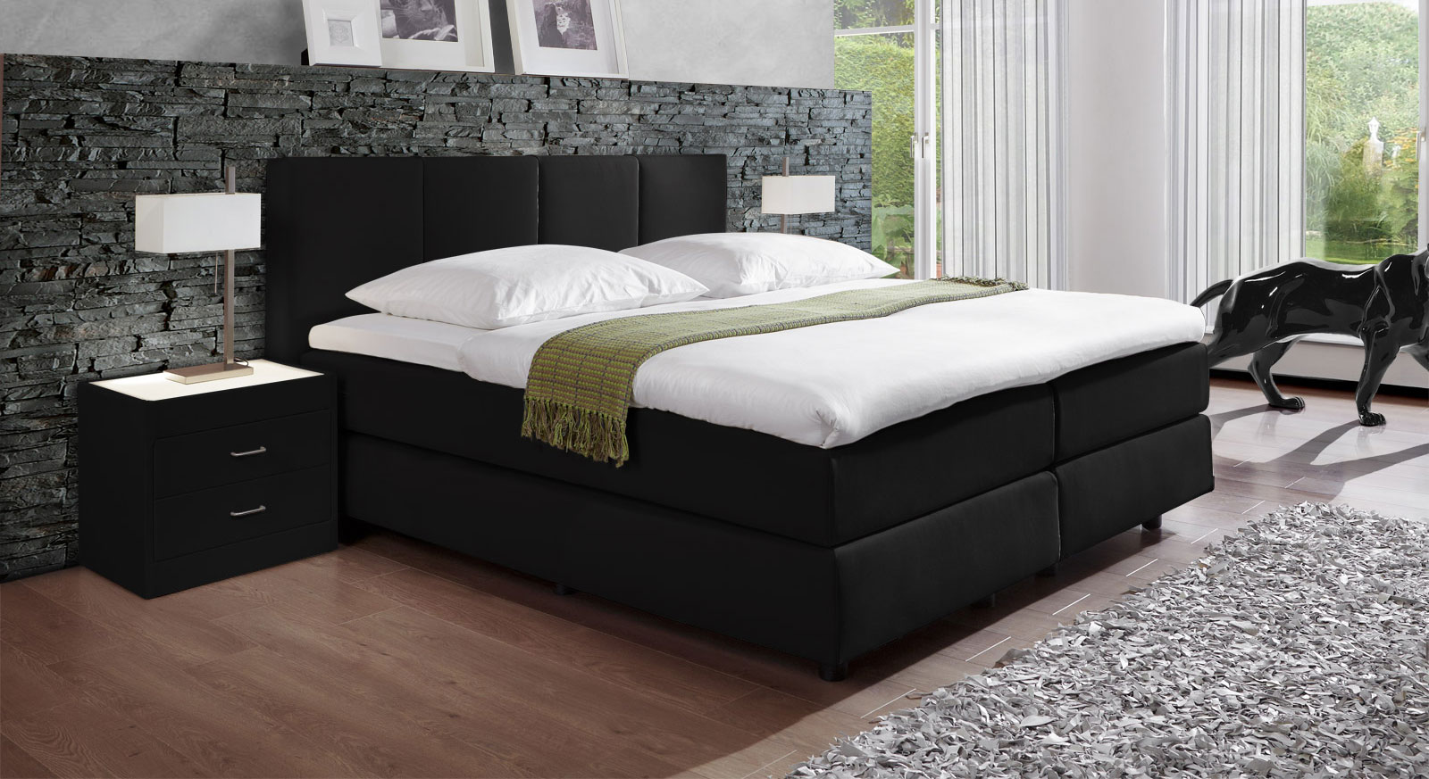 wandfarbe schlafzimmer zu anthrazit. Black Bedroom Furniture Sets. Home Design Ideas